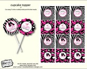 Girls Night Favor Tags, Bachelorette Party Favor Tags, Adult Party Cupcake Toppers, Animal Print Favor Tags, Cupcake Toppers, Favor Tags