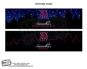 Sex and the City Party - Beverage Labels