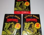 Little Shop of Horrors Three Pack Lot Stickers 1986 Vintage 1980s 80s Hipster All Hallows Eve Halloween Christmas Stocking Stuffer Stuffers