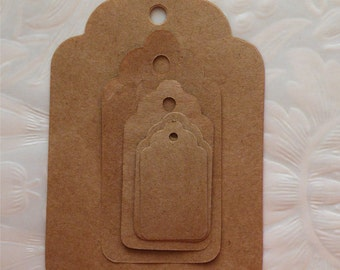 Tag, Hang Tag, Blank Tag, Kraft Tag, Product Tag, Jewelry Tag, Scrapbook Tag, Five Sizes 75pc, 50pc, 25pc, 15pc, 9pc