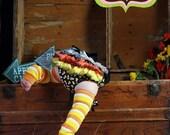 Candy Corn Halloween Ruffled Bloomer