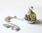 Bird in Birdcage Necklace