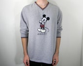 Mickey Mouse'd Vintage Over-sized Sweatshirt M/L