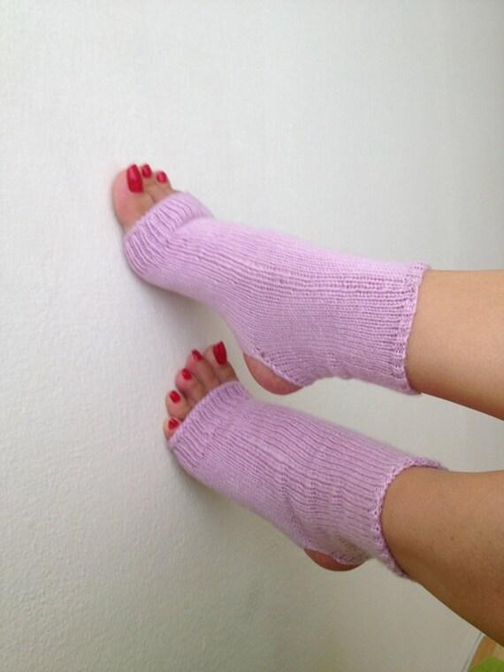 Lilac  toeless  yoga socks ,socks,pilates,flip flops,sandals,home slippers