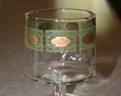 Barware Green Gold Cocktail Glasses Vintage, Mad men bar ware