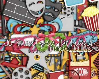 Let's Go Out to the Movies Digital Scrapbooking Kit