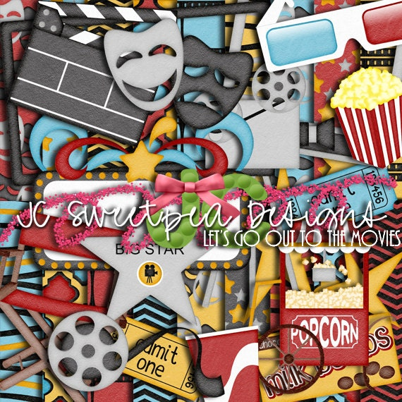 Let S Go To The Movies: Let's Go Out To The Movies Digital Scrapbooking Kit