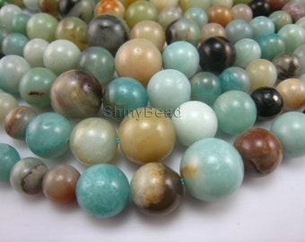 Chinese amazonite graduated round bead 12-6mm 15 inch strand