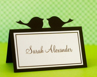 Love Bird Wedding Place Cards - set of 24
