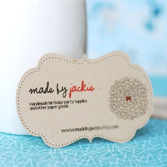 Items similar to Custom Die Cut Business Cards set of 50
