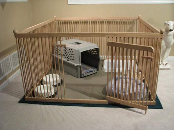 Furniture Quality Small Dog Exercise Pen Ready To Finish