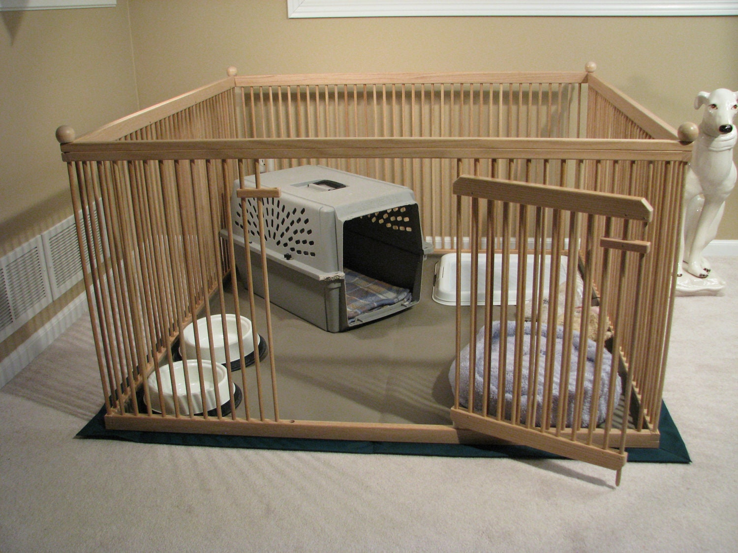 furniture quality small dog exercise pen ready to finish. Black Bedroom Furniture Sets. Home Design Ideas