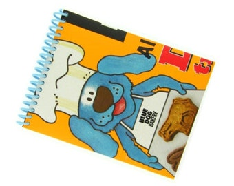 BLUE DOG BISCUITS recycled spiral bound journal notebook