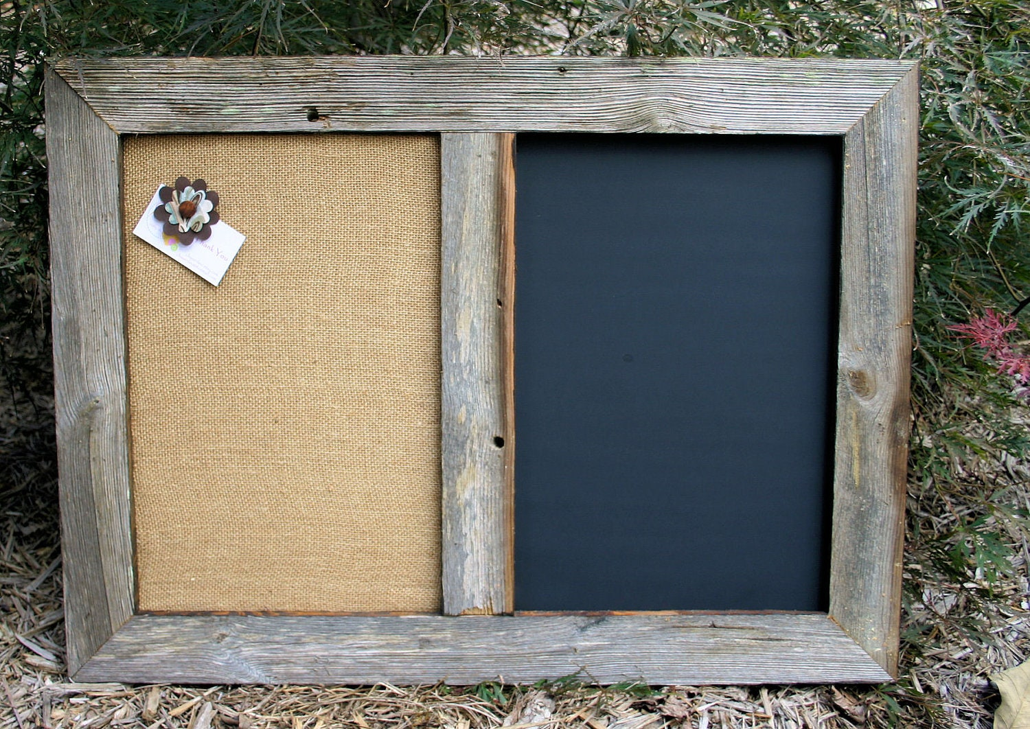 framed chalk board cork board zoom