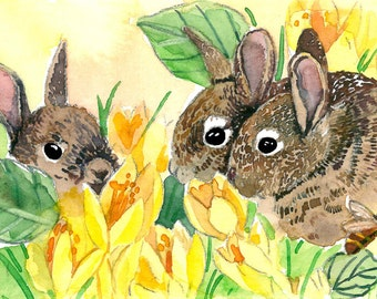 ACEO Limited Edition 2/25-Little bunnies