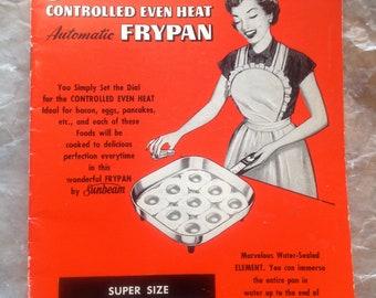 Sunbeam Frypan Recipe Book Instruction Manual