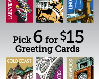 Assorted Chicago Neighborhood Greeting Cards