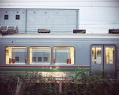 Extra Large Wall Art-Japan Train Photo-Empty Lit Train in The Night-Home Decor-Travel Photography-20x30