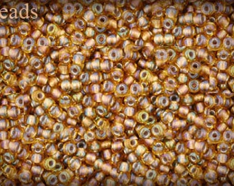Seed beads TOHO 10g size 11/0 Gold-Lined Rainbow Topaz Nr. 11-278