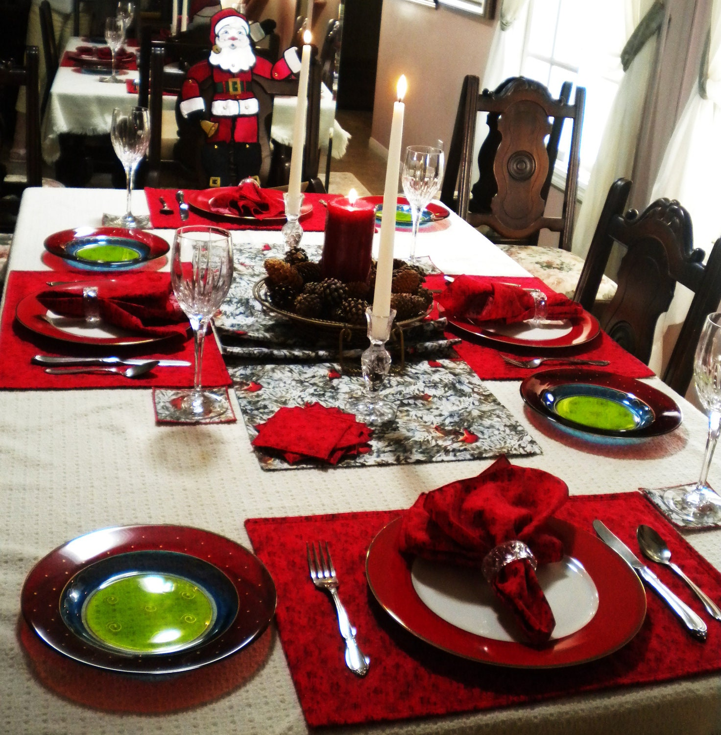 Sale Christmas Dining Table Linen Set By Ravennacash