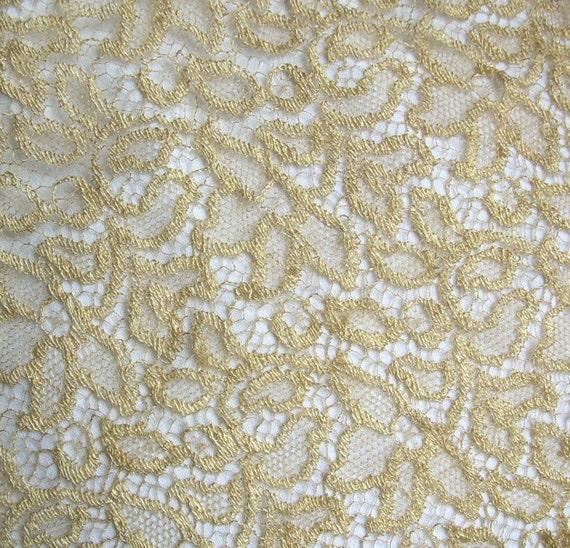 Vintage Gold Lace bodice inset
