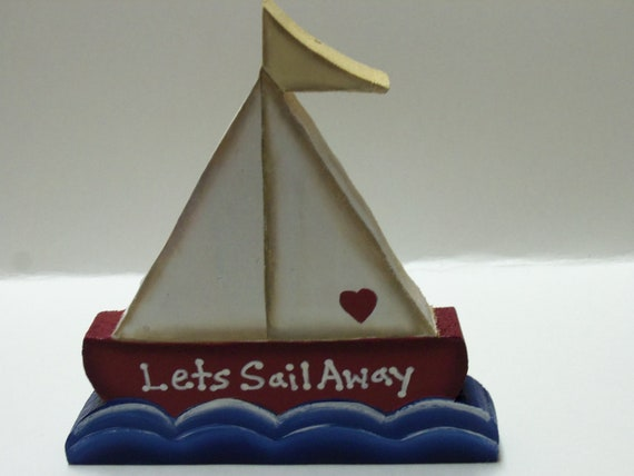 Wood Sailboat Wall Hanging or Shelf Sitter