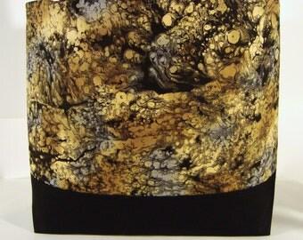 Large Tote--Book Bag- Diaper Bag-Purse-Tan Vanilla Grey Black Oxide Print