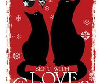 Cat christmas card With Love At Christmas