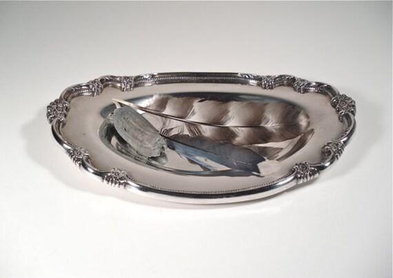 Decorative Silver Dish - Remembrance 1847 Tray