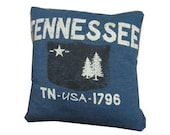 Tennessee TN USA recycled t-shirt pillow throw cotton tshirt throw pillow cushion
