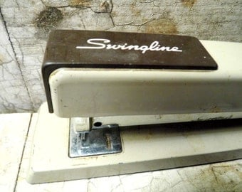 Vintage Office Supplies, Swingline Stapler, Works, Industrial, Retro Mad Men, Stationery