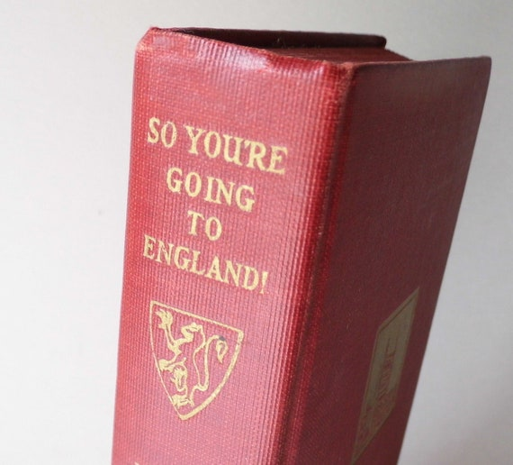 So You're Going to England, History Book, Library Items from All Vintage Man