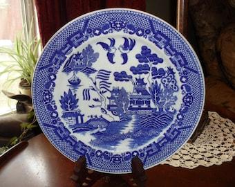 Blue abd White China Plate