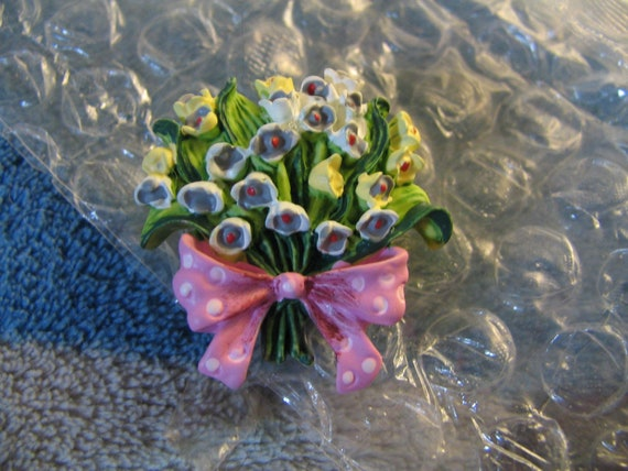Vintage Floral Resin button Cover