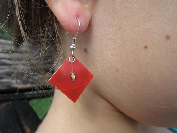 Pulsing Red Electronic Earrings