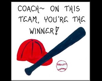 Magnet - Baseball Coach - Sports Team leader, thank you gift, Quote, spirit saying