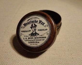 Moustache Wax Pill Box - Small Trinket Box