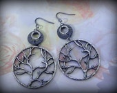 "Tibetan silver ""tree of life"" earrings"