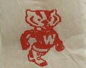 Bucky Badger Vintage Iron On 10 University of Wisconsin Madison