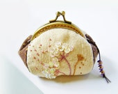 Coin purse / metal frame purse / embroidery purse / metal frame / 8.5 cm frame purse - made to order