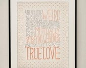 Robert Fulghum / Dr. Seuss Love Quote 11x14 Typography Art Print