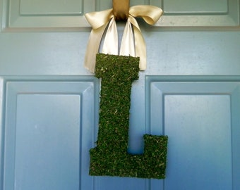 Moss Letters (all sizes and letters available) 12 inch Rustic Wedding