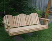 5 Foot Adirondack Cypress Porch Swing
