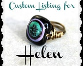 Zen Garden - Wire Wrapped Bead Ring - Size 6.5 - READY to SHIP