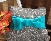 Items Similar To Black And Blue Felt Bow Decorative Accent