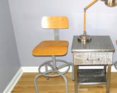 Vintage Chair Science Lab Seat Adjustable Industrial Stool Maple Seat Back Retro  Featured In Country Living Magazine October 2013 Steampunk