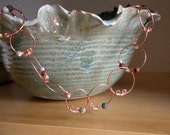 Copper Hoop Necklace