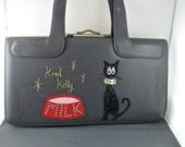 Grey Vintage Francois of California Bags Kool Kitty handbag
