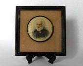 Victorian Portrait Print of Henry Wadsworth Longfellow Framed Portrait Longfellow - c 1900