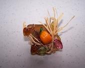 English Sea Glass AUTUMN HARVEST Pin
